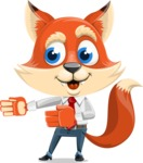 Fox Businessman Cartoon Vector character AKA Ben Tails - Show 2