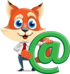 Fox Businessman Cartoon Vector character AKA Ben Tails - Email