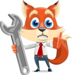 Fox Businessman Cartoon Vector character AKA Ben Tails - Repair