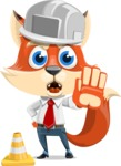 Fox Businessman Cartoon Vector character AKA Ben Tails - Under Construction 1