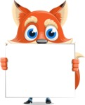 Fox Businessman Cartoon Vector character AKA Ben Tails - Sign 5