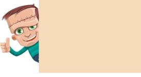 Little Monster Kid Cartoon Vector Character - Presentation 4