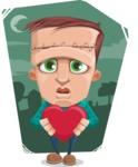 Little Monster Kid Cartoon Vector Character - Shape 9