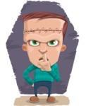 Little Monster Kid Cartoon Vector Character - Shape 10