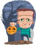Little Monster Kid Cartoon Vector Character - Shape 12
