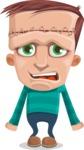 Little Monster Kid Cartoon Vector Character - Stunned