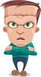 Little Monster Kid Cartoon Vector Character - Patient