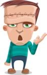 Little Monster Kid Cartoon Vector Character - Bored