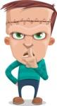 Little Monster Kid Cartoon Vector Character - Quiet