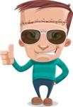Little Monster Kid Cartoon Vector Character - Sunglasses