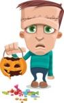 Little Monster Kid Cartoon Vector Character - Broken