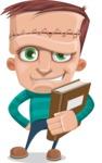 Little Monster Kid Cartoon Vector Character - Book