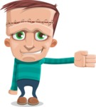 Little Monster Kid Cartoon Vector Character - Show 2