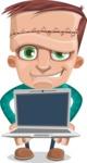 Little Monster Kid Cartoon Vector Character - Laptop 2