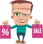 Little Monster Kid Cartoon Vector Character - Sale