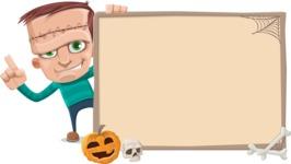 Little Monster Kid Cartoon Vector Character - Presentation 3