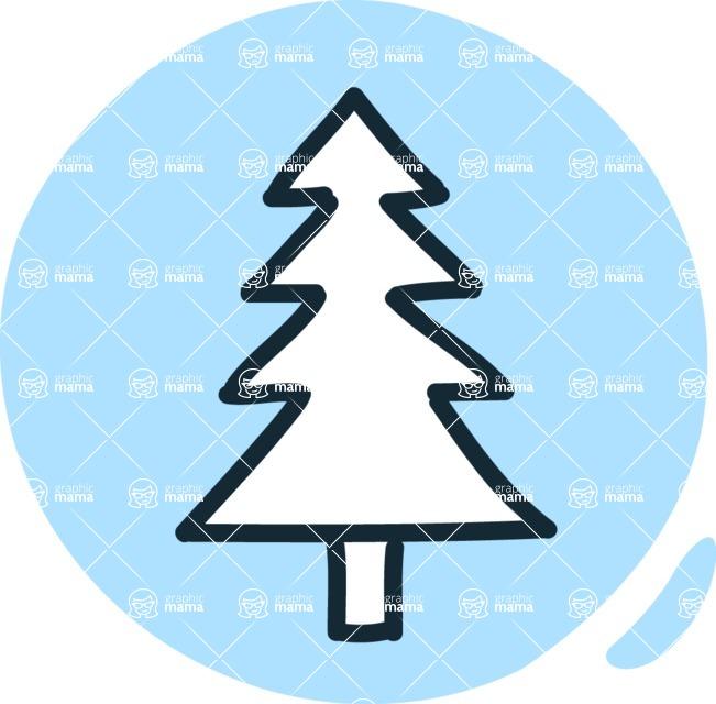 800+ Multi Style Icons Bundle - Free tree icon 3