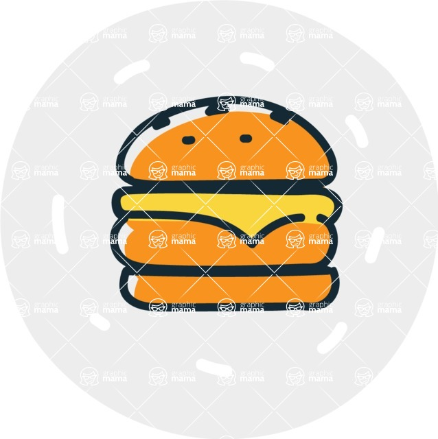 800+ Multi Style Icons Bundle - Free food icon - burger 7