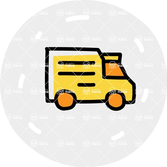 800+ Multi Style Icons Bundle - Free delivery bus icon 7