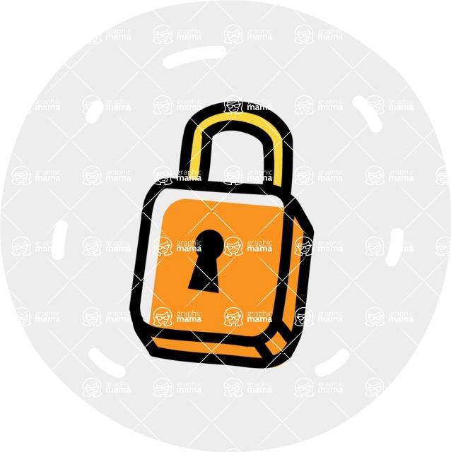 800+ Multi Style Icons Bundle - Free lock icon 7