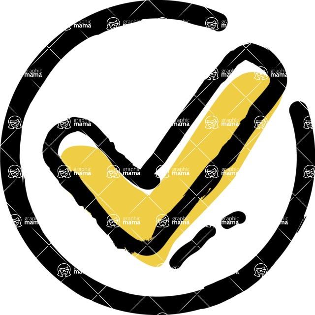 800+ Multi Style Icons Bundle - Free check icon 2