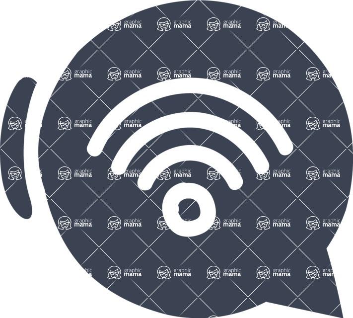 800+ Multi Style Icons Bundle - Free wifi icon 6