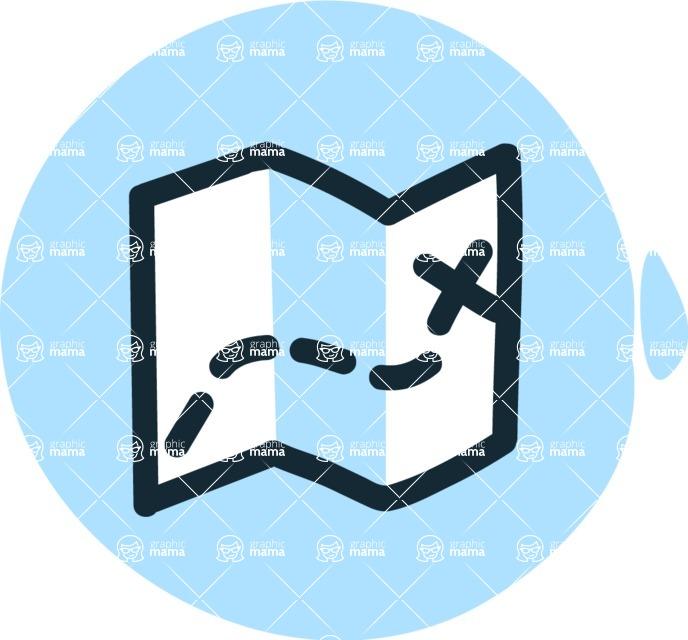 800+ Multi Style Icons Bundle - Free map icon 3