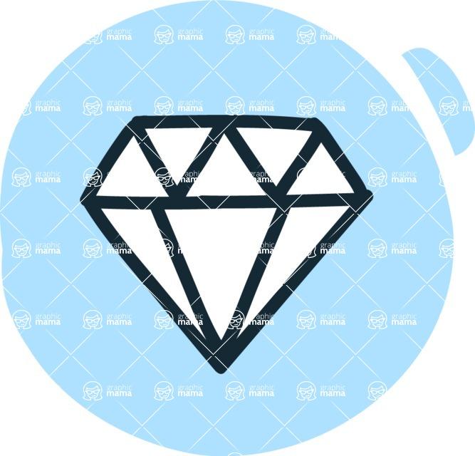 800+ Multi Style Icons Bundle - Free diamond icon 3