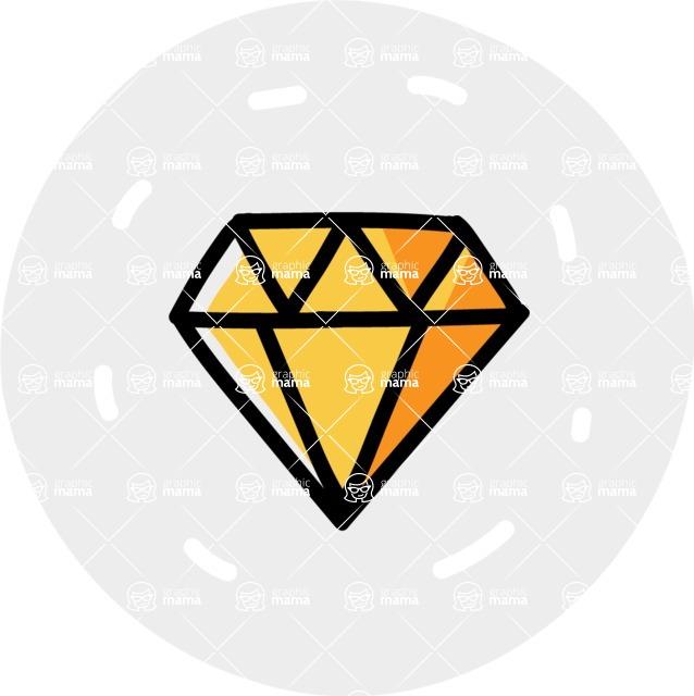 800+ Multi Style Icons Bundle - Free diamond icon 7