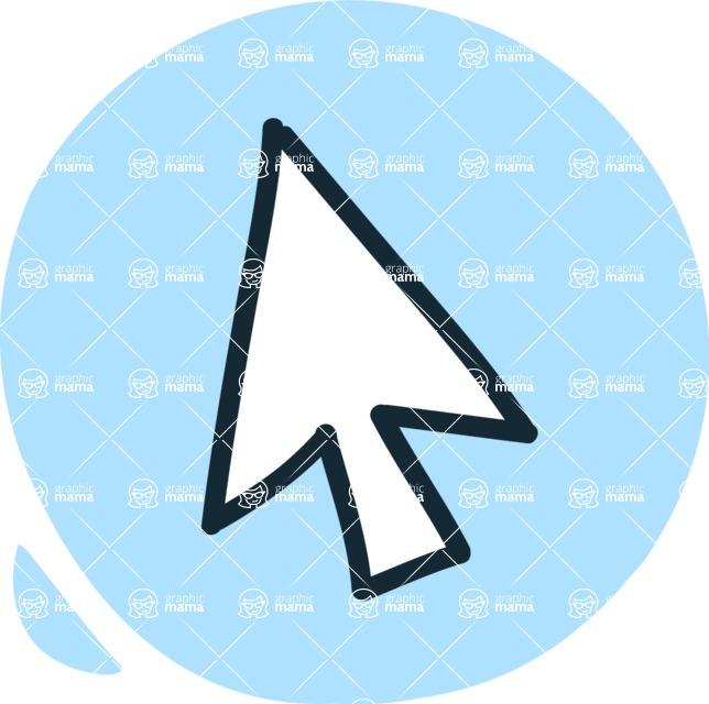 800+ Multi Style Icons Bundle - Free cursor icon 3