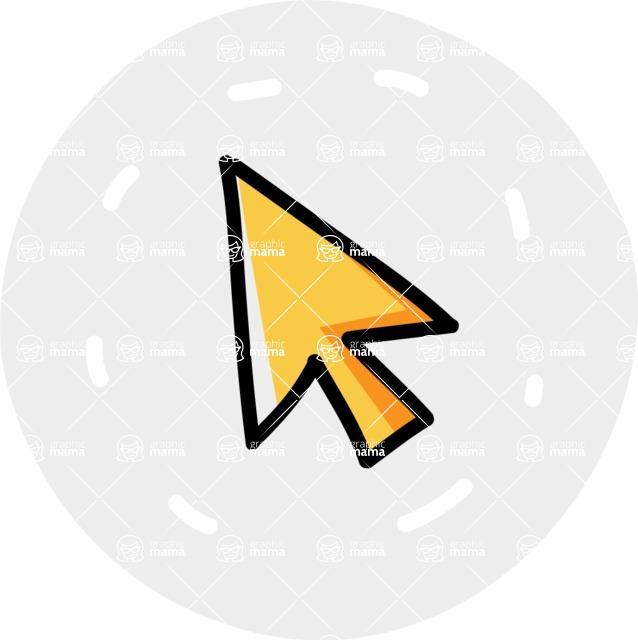 800+ Multi Style Icons Bundle - Free cursor icon 7