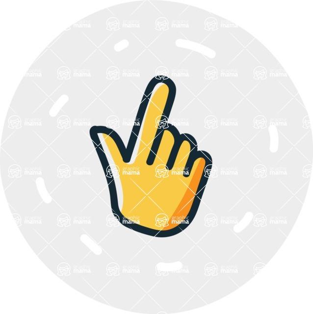 800+ Multi Style Icons Bundle - Free point icon 7