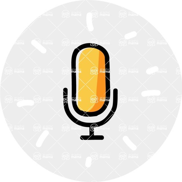 800+ Multi Style Icons Bundle - Free microphone icon 7