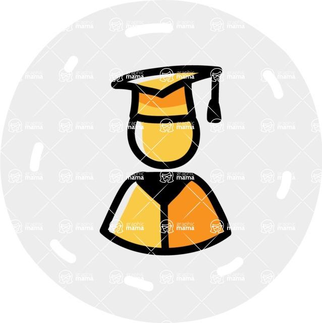 800+ Multi Style Icons Bundle - Free student icon 6