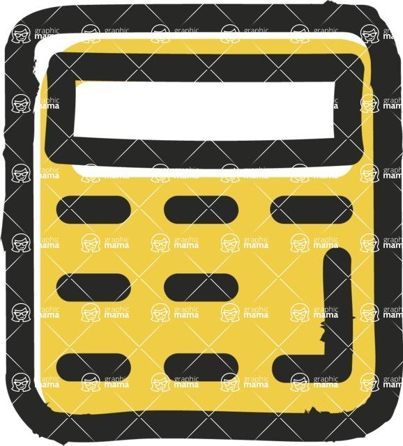 800+ Multi Style Icons Bundle - Free calculator icon 2