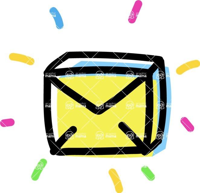 800+ Multi Style Icons Bundle - Free email icon 4