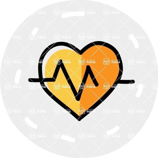 800+ Multi Style Icons Bundle - Free health stats icon 6