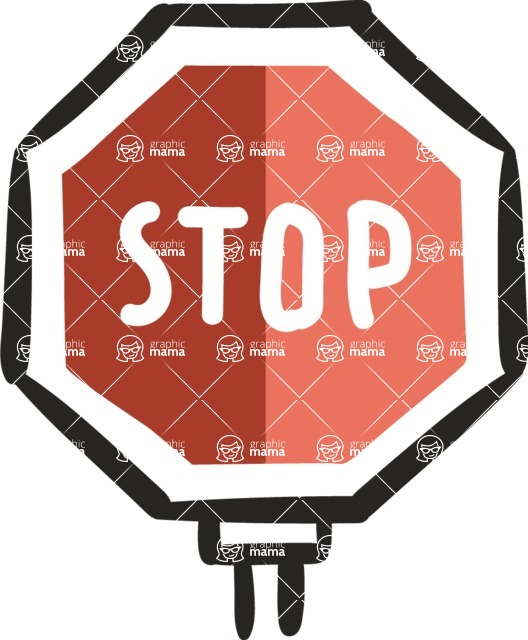 800+ Multi Style Icons Bundle - Free stop sign icon 5