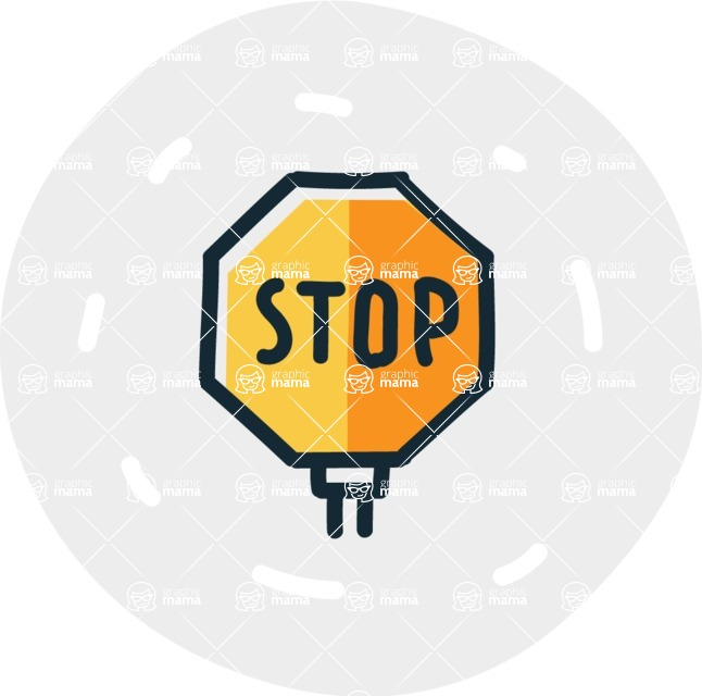 800+ Multi Style Icons Bundle - Free stop sign icon 7