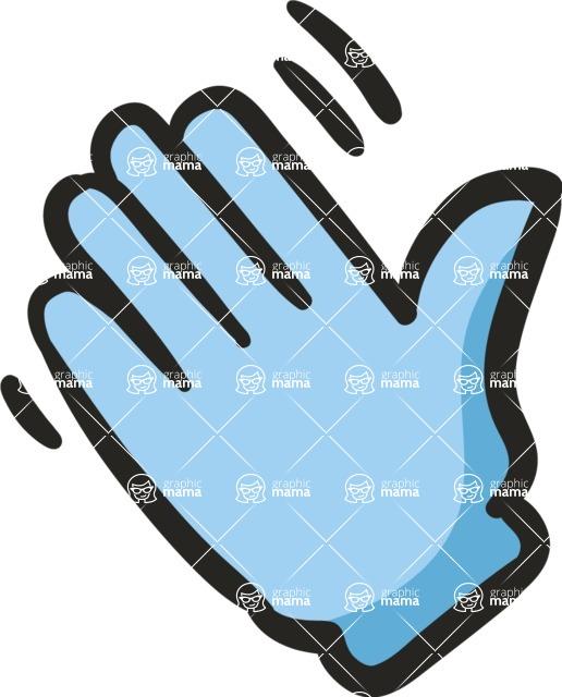 800+ Multi Style Icons Bundle - Free hello hand icon 5