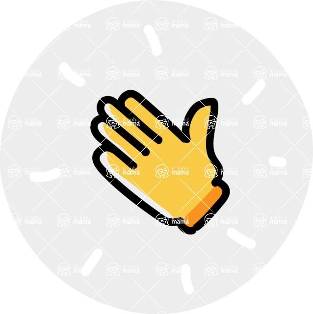800+ Multi Style Icons Bundle - Free hello hand icon 7