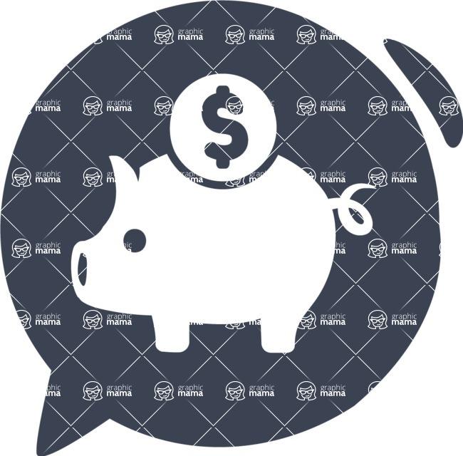 800+ Multi Style Icons Bundle - Free savings icon 6