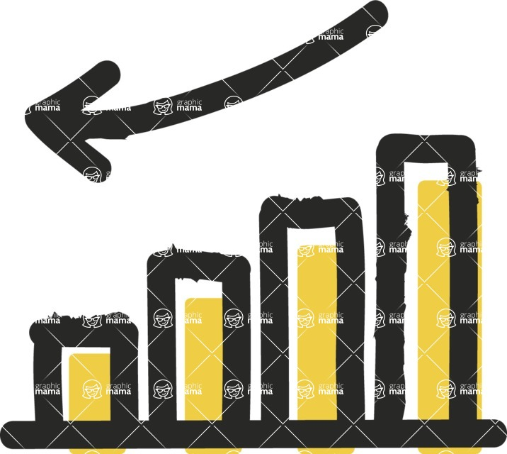800+ Multi Style Icons Bundle - Free negative stats icon 2