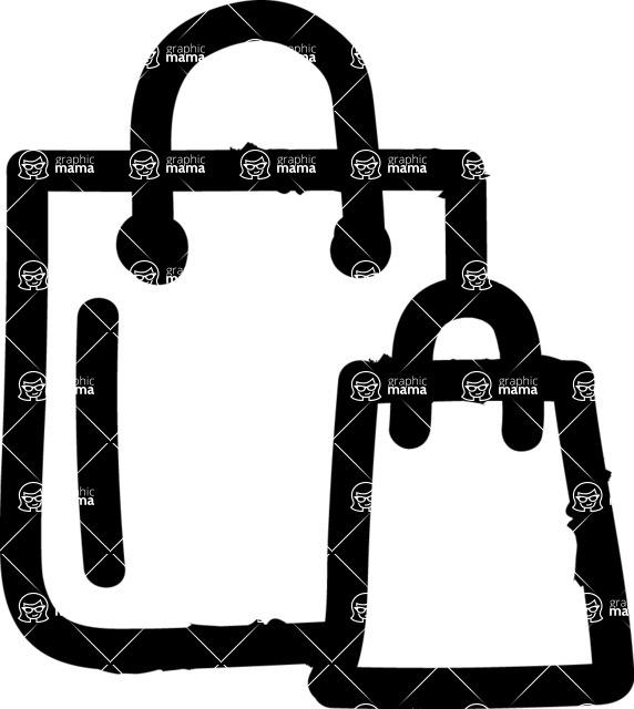 800+ Multi Style Icons Bundle - Free shopping bag icon 1