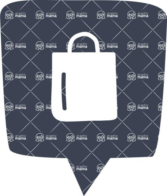 800+ Multi Style Icons Bundle - Free shopping bag icon 6