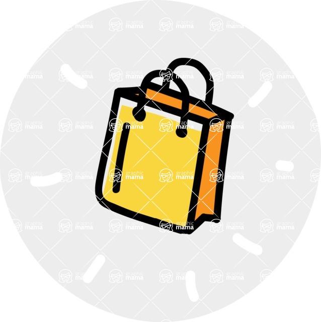 800+ Multi Style Icons Bundle - Free shopping bag icon 7