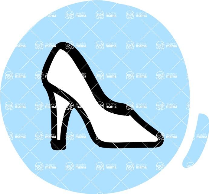 800+ Multi Style Icons Bundle - Free shoe fashion icon 3