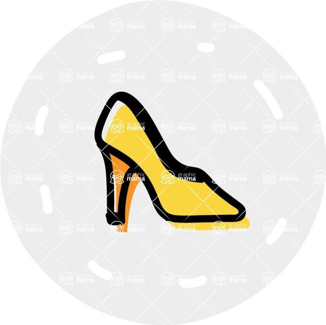 800+ Multi Style Icons Bundle - Free shoe fashion icon 7