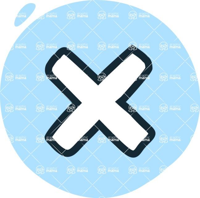 800+ Multi Style Icons Bundle - Free cross X icon 3