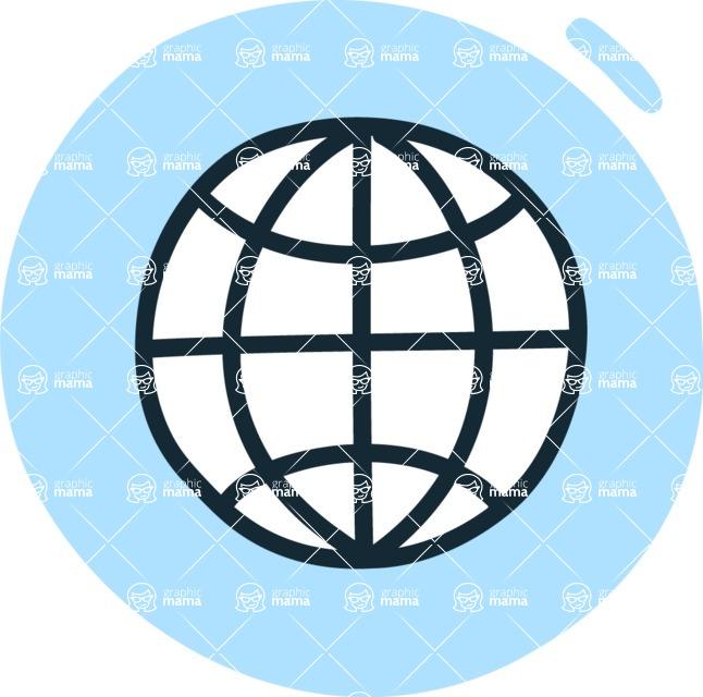 800+ Multi Style Icons Bundle - Free worldwide web icon 3